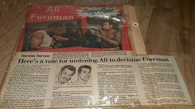 Vintage 600ms Box Haken Muhammad Ali George Vorarbeiter Scrapbook Seite Boxer ()