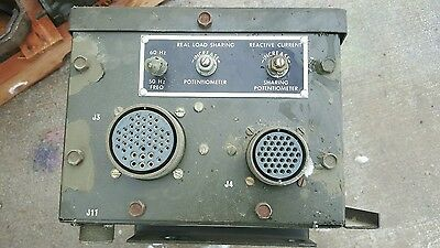 Real Load Sharing Electric Power Converter Governor Unit Military Generator 60hz