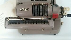 Alte antike Rechenmaschine, Büromaschine, Firma Walther, WSR  160