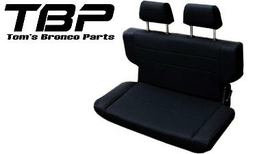 """1966-1977 Early Ford Bronco Fold and Tumble Rear Bench Seat 40"""" Black, Nice! New for sale  Medford"""