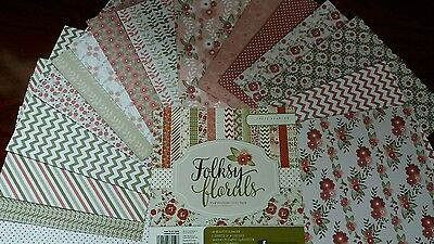 Craft paper folksie floral 16 sheets
