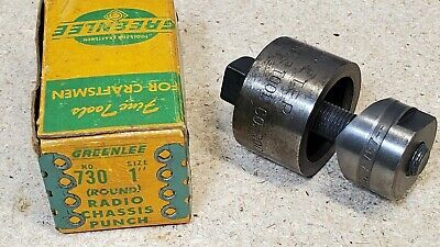 Greenlee No. 730 - 1 Diameter Punch And Die Set - Radio Chassis Punch