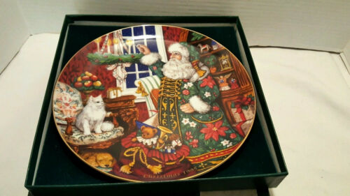 Fitz and Floyd Father Christmas Collector's Series Plate 1995 # 486 w/ Box Santa