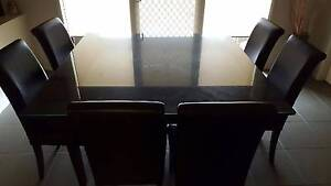 Square 8 Seat Dining Table with Glass Top Includes  8 Chairs Truganina Melton Area Preview