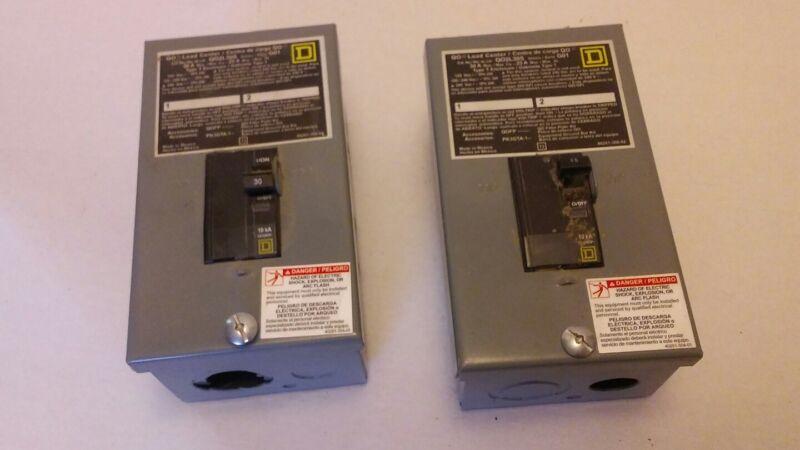 Square D Electrical Breakers QO2L30S G01, TYPE 1 Enclosure, Set of 2