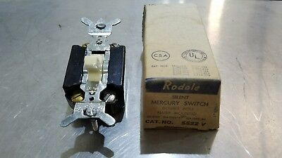 Rodale Silent Mercury Switch Double Pole Flush Mounted Ivory Brown