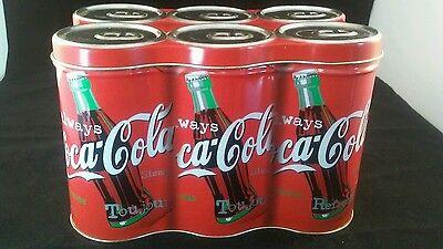 Coca-Cola Unique 6 Pack Style Decorative Collector Tin, Soda, Pop, Container