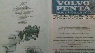 Volvo Penta AQ Reparaturanleitung 105/115/130/165/170