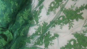 High Quality Beautiful Emerald Green French Lace Fabric 1/2 yrd.