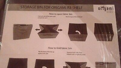 1DAY SALE $5OFF! Origami storage bin for-R3 Fabric Cover for R3 Shelf gray color