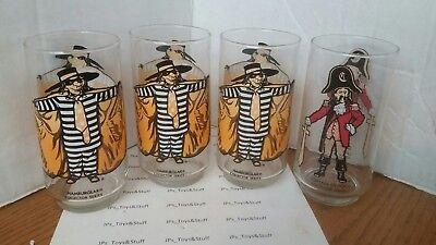 Vintage McDonalds Glasses Collectors Series lot of 4