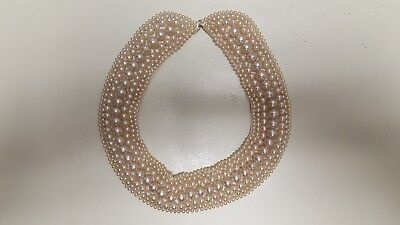 Vintage 1940s-1950s Faux Pearl Collar SPECIALTY HOUSE FASHION Japan