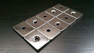 10 Huge Neodymium Block Magnets. Super Strong Rare Earth N52 1 X 34 X 18