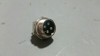 Opek C-4p 4 Pin Male Panel Mount Mike Microphone Connector Jack