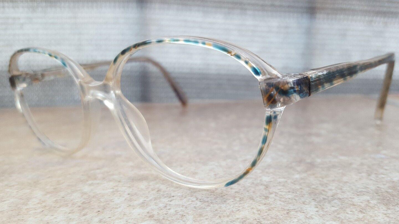 INTER 9417 TR Damen Sekretärin Brillengestell Transparent Farbig Bunt Vintage