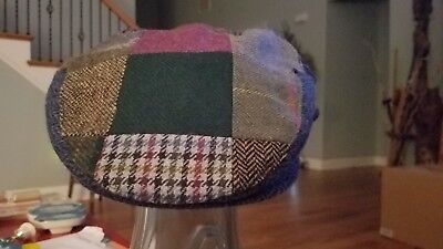 New Patchwork Flat Cap Irish Tweed Made in Ireland John Hanly & Co. XL