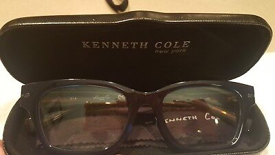KENNETH COLE NEW YORK KC0237 090 Eyeglass Frames Blue Tortoise 51 18 140 New