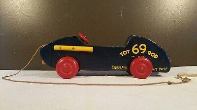 Vintage Wooden Car 1954 Tot Rod Towner Toys Portland Oregon IN GREAT -