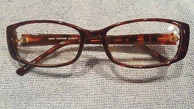 031a8ed24a Heartland Collection Eyeglass Frames Missy Tortoise 53 16 135 New