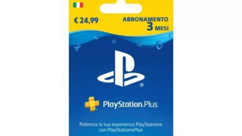 Abbonamento Account Playstation Plus 3 mesi PS4 LEGGERE ATTENTAMENTE DESCRIZIONE