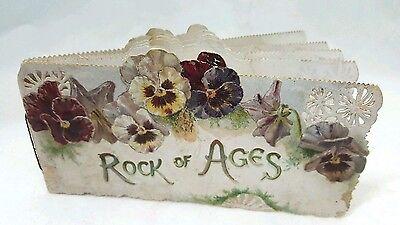 Antique Raphel Tuck / Toplady / Klein poem booklet titled Rock of Ages