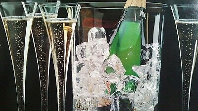 Celebration by Colony - Fluted Champagne Glasses & Ice Bucket - 5 Piece Lot Wholesale Champagne Buckets