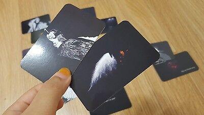 Bts Fansite Bts Photocard Bangtan Boys V Jimin Fire Wings Bts Sticker Black Ver