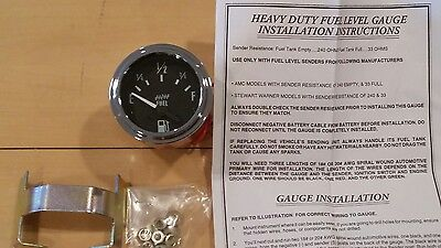 New Electric Fuel Level Gauge  2 with instructions and hardware free gift