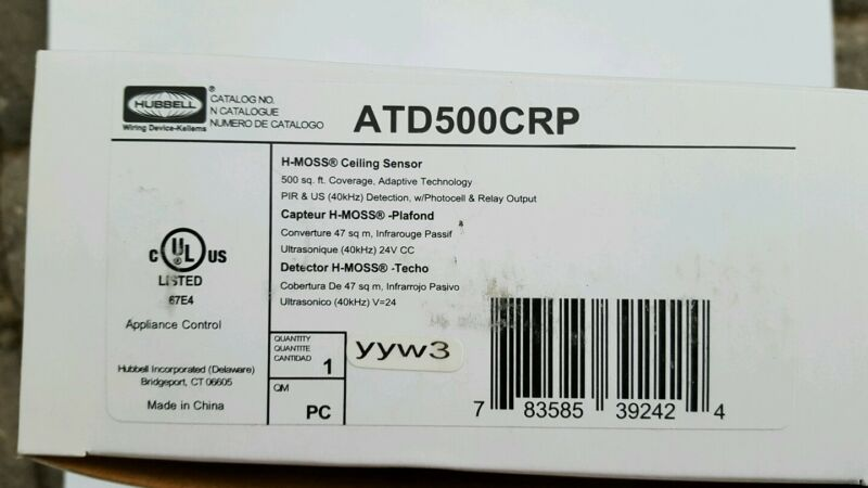 New Hubbell ATD500CRP Celling Sensor.