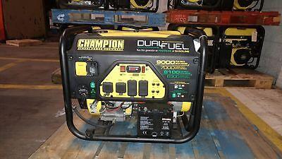 7000/9000w Champion Generator, electric start, runs on gas or propane