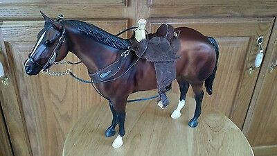 Breyer Custom western saddle bridle set