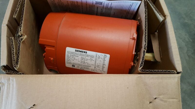 Siemens Electric Motor 1/2 HP 1740 RPM NEW