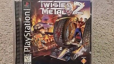 TWISTED METAL 2 --- PS1 PLAYSTATION 1 -- BLACK LABEL COMPLETE