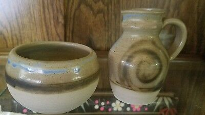 L@@k!!! Vintage Moffat Pottery Pitcher and bowl Made in Scotland for sale  Shipping to United Kingdom