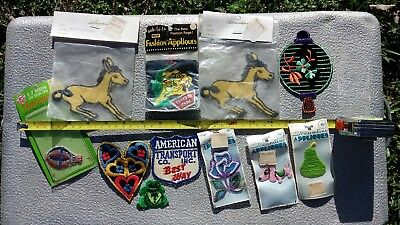 Vintage Clothing Patches - Donkey, Tiger, Dog, Hot Air Balloon & More!