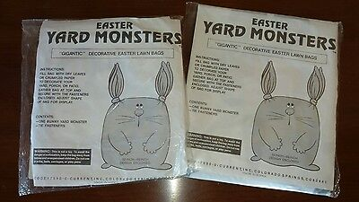 Easter Yard Monster waste bags gigantic leaf rabbit