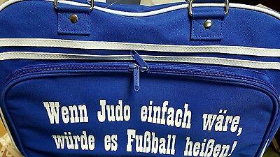 Sporttasche Freizeittasche blau Judo
