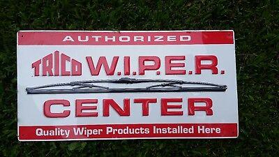 Trico Wiper Center Embossed Sign, Metal Embossed Garage Sign,  Dealer Sign