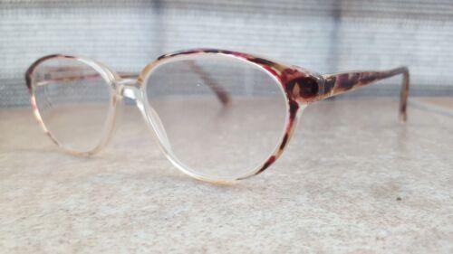 INTER 9706 Damen Sekretärin Brillengestell Transparent  Gold Braun Rot Vintage