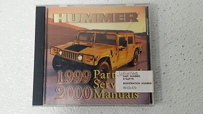 1999-2000 Hummer, Parts & Service Manual DVD, p/n 5744978, Release 3 April (2000 Service Release)