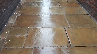 Original reclaimed York stone flags slabs paving mill stone PURE QUALITY all big