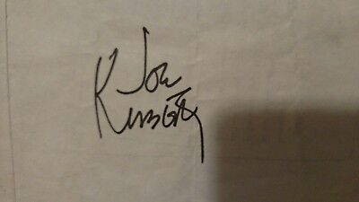Hand signed Joe Kubert so you want to be cartoonist page autograph signature