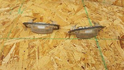 98-03 MERCEDES BENZ CLK320 Rear Back License Plate Mounted LIGHT LAMP SET OEM