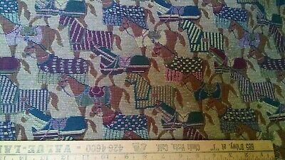 Blanket Horses Tapestry Upholstery Quality Italian Decor Fabric 1 Yard NEW