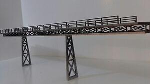 Laser Cut OO Gauge T Section Girder Railway Viaduct Bridge Kit 3mm MDF 58cm Long