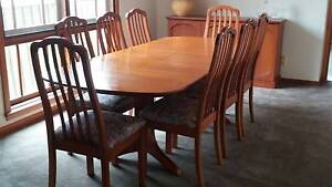 Extendable Dining Table + 8 Chairs Kellyville The Hills District Preview