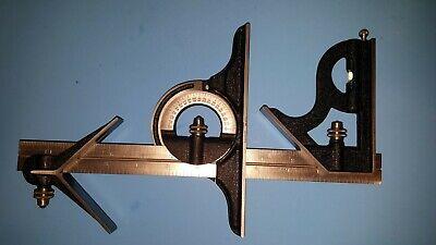 Starrett Combination Square 12 Square Center Head Protractor Blade 4r Nice