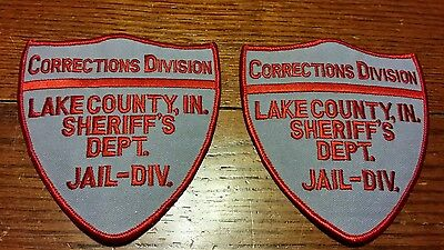 Corrections division Lake Co Indiana sheriff's dept jail division embroidered