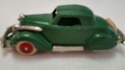 Vintage Green Cast Iron Hubley Toy Car Coupe Circa 1930's