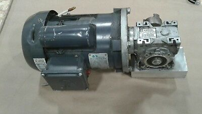 Electric Motor .75hp 115208-230v 1725 Rpm 1 Ph W Varvel Gear Reducer 1293kw